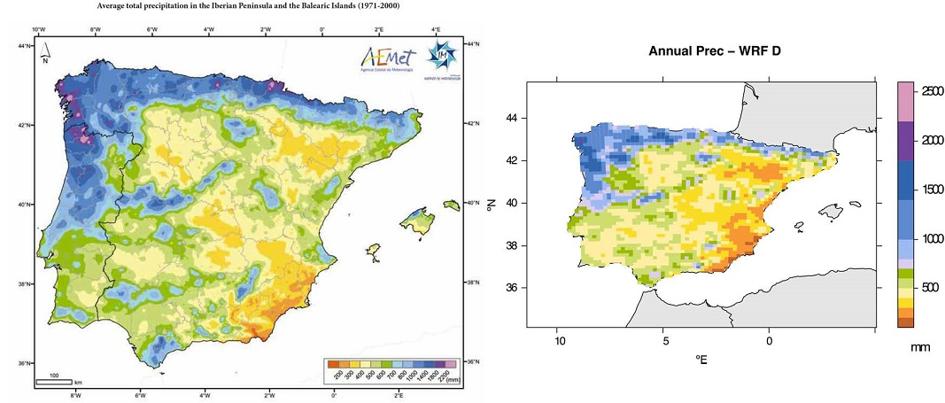 The Meteorological Simulation Of The Iberian Peninsula Improves When