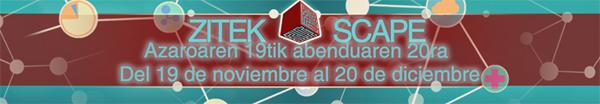 ZITEK SCAPE. Del 19 de noviembre al 20 de diciembre
