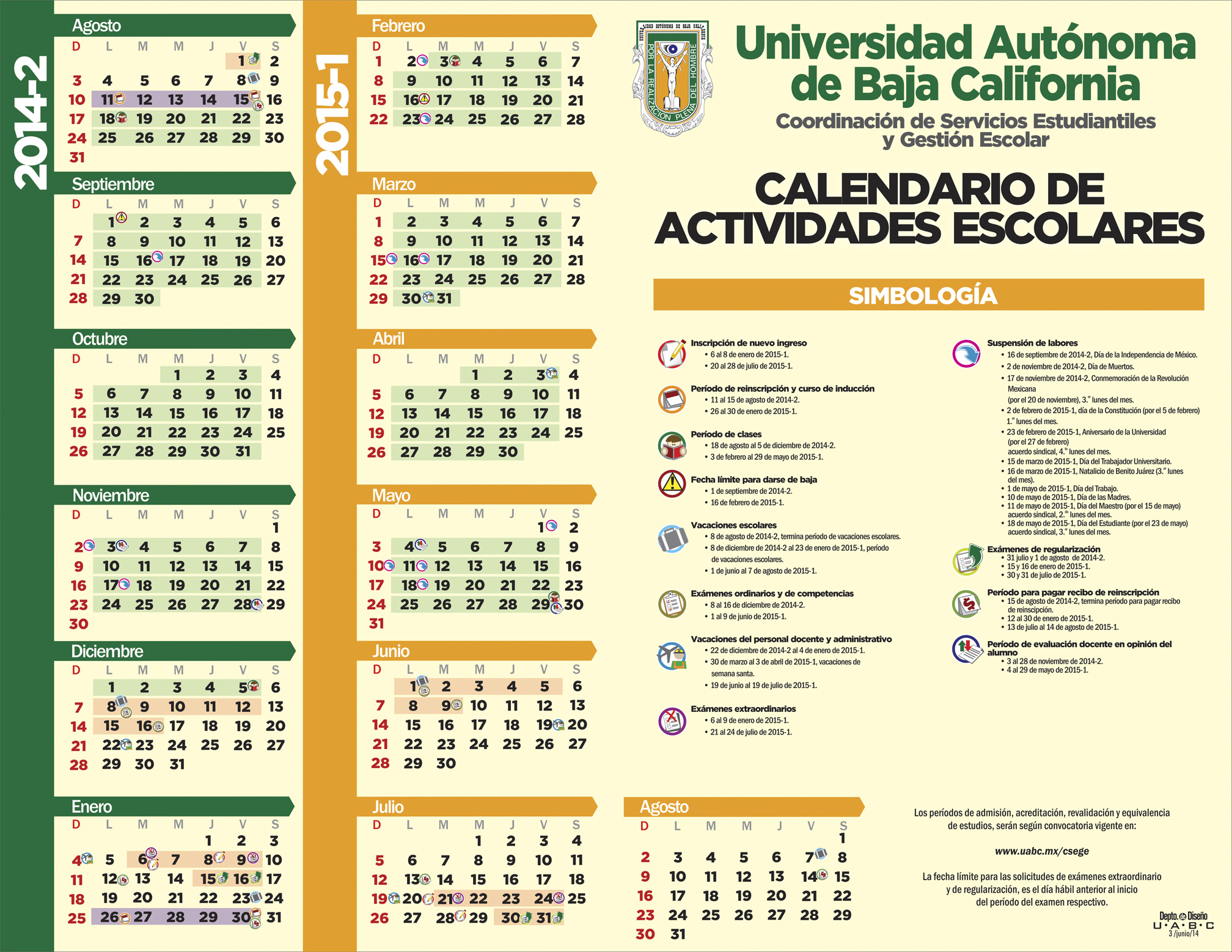 Calendario 2016 Uabc | newhairstylesformen2014.com