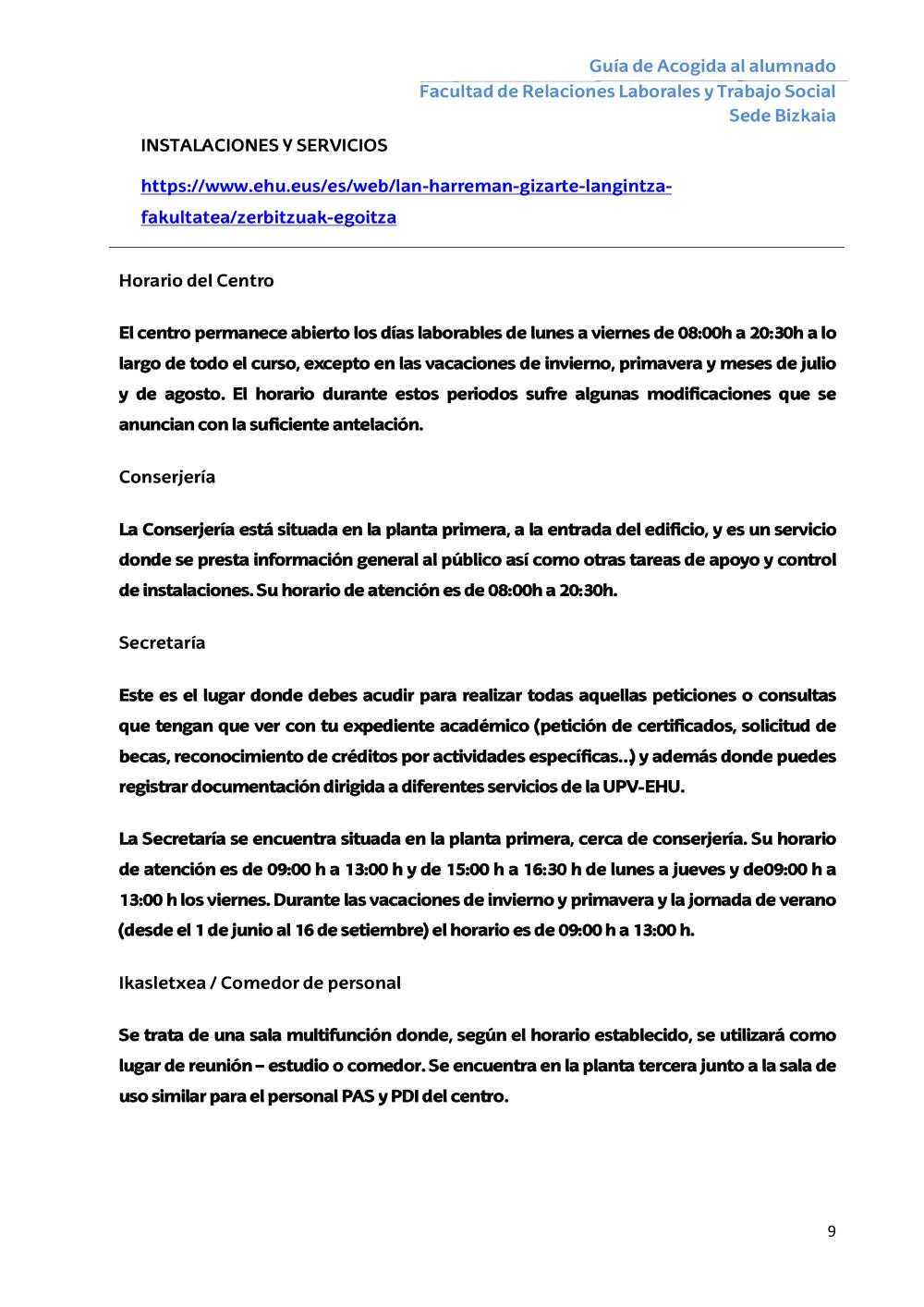 Degrees - Lan Harreman eta Gizarte Langintza Fakultatea - UPV/EHU
