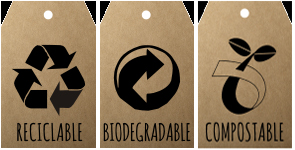 Etiquetas: Reciclable-Biodegradable-Compostable