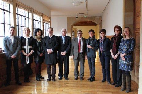 Representantes de extensión universitaria del G9 reunidos en Oviedo (Asturias)