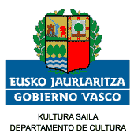 Eusko Jaularitza, Kultura Saila - Gobierno Vasco, Departamento de Cultura - Basque Government, Culture Department
