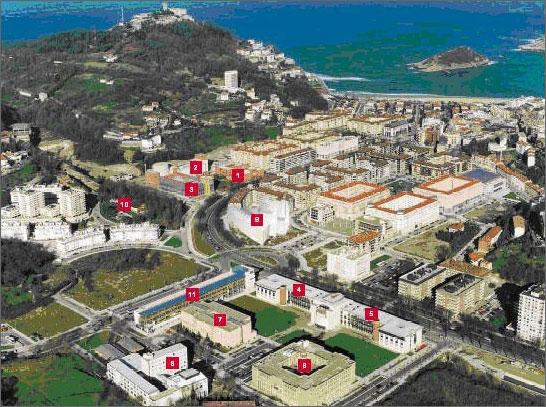 Mapa del campus upv ehu - Arquitectura pais vasco ...